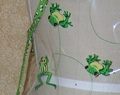 Wipeable Toddler Apron Froggy Went Courtin' Vinyl art cover up childs kids boys girls