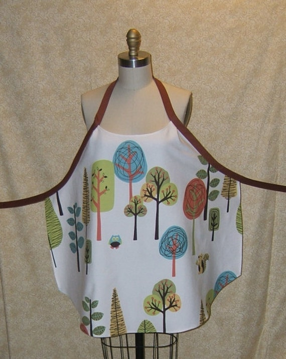 Apron Great Outdoors Chef Style Rust Tie Repurposed Upcycled Hot pad Pot holder full figure