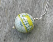 Vintage Bottle Cap with Sterling Silver Chain