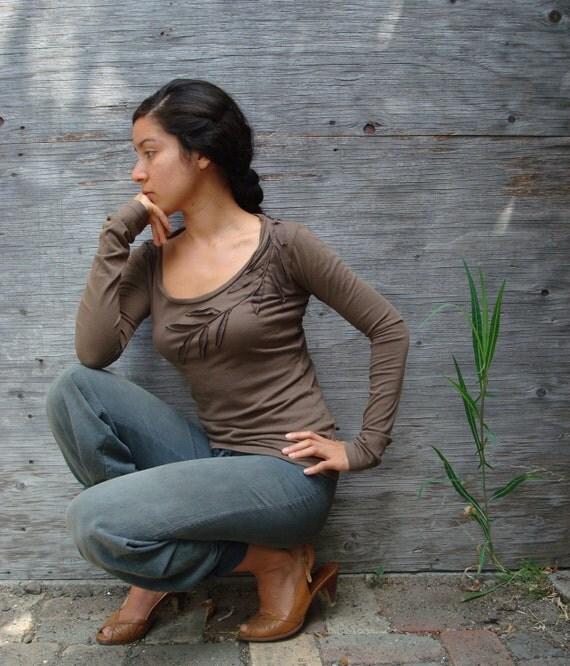 Rustic Organic Liana Long Sleeve Top  - organic clothing