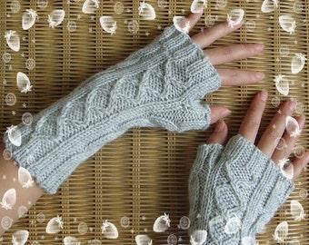 Gray  arm warmer fingerless gloves
