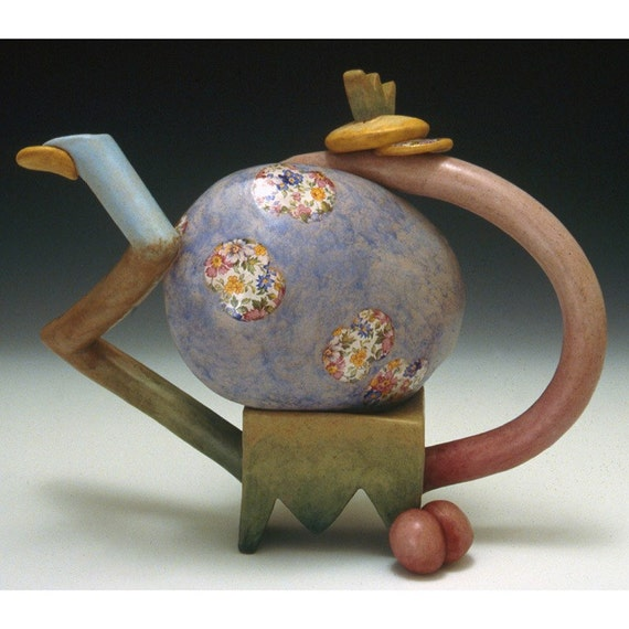 Save - On Sale - So Fly Baby Boy Sculptural Teapot by Sandra Luehrsen