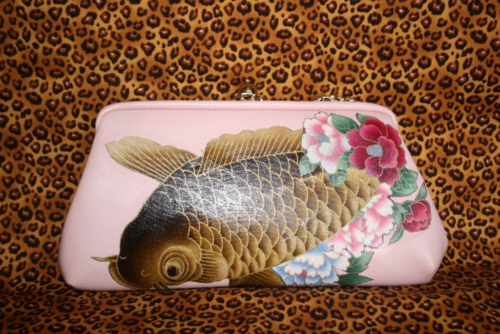 Pink koi fish purse for Pink koi fish