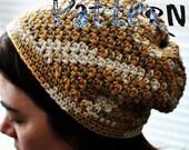 PDF Crochet Pattern - Katja Cap (inc. sizes from 6mo-adult)