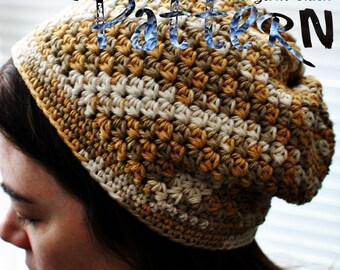PDF Crochet Pattern - Katja Cap (inc. sizes from 6mo-adult)