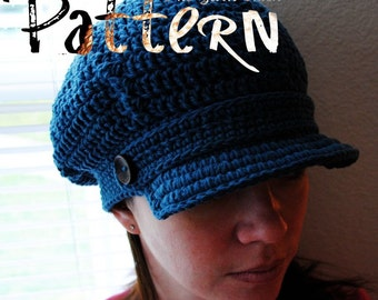 PDF Crochet Pattern - Twisted Brimster