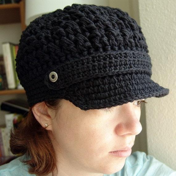 PDF Crochet Pattern Ladies Breezy Brimmed Beanie