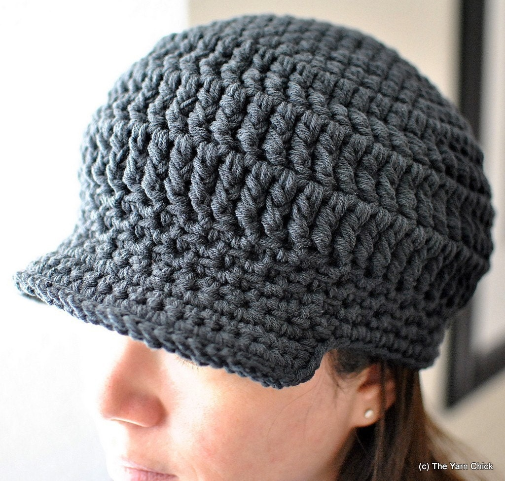 PDF Crochet Pattern - Riley Brimmed Unisex Cap - hat cap ...