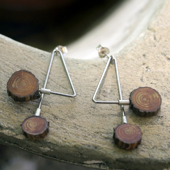 Dental steel and Sterling Silver earrings made in France Number 4