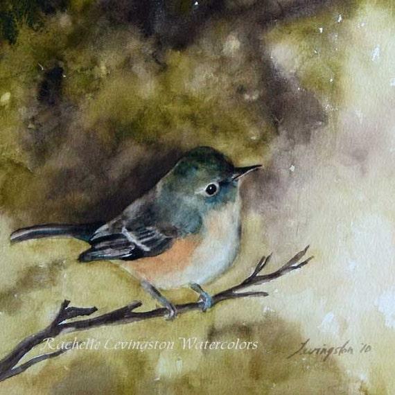 Reserved for Kate  Three Bird art PRINT Set 8 x 10 (3 bird PRINTS from original watercolor bird painting set) (