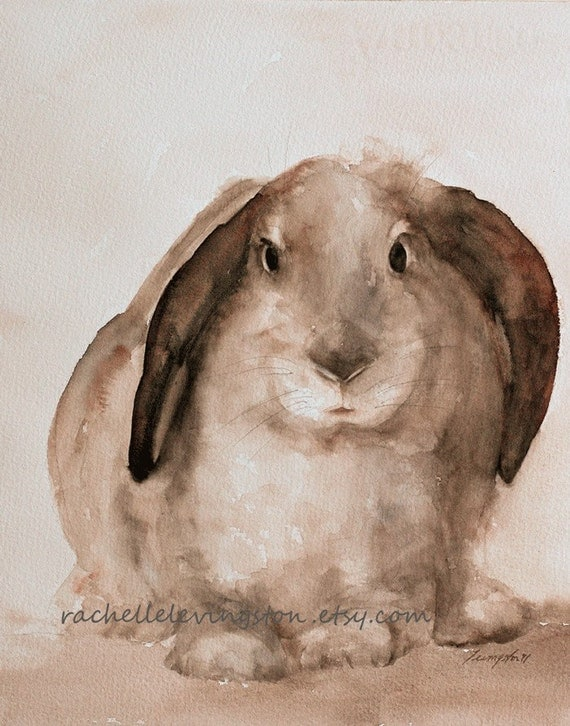 For her bunny wall hanging home decor print bunny print bunny for Rabbit decorations home
