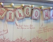 Victorian Welcome Garland COLORS CUSTOMIZED DIGITAL