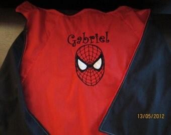 Spiderman Cape - Personalized, Reversible, Washable