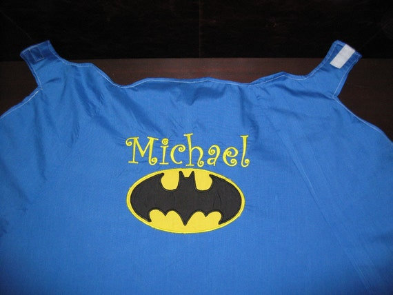 Batman Cape, Personalized, Reversible, Washable...made like super hero capes