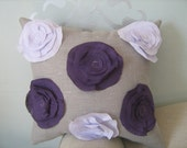 Twilight Garden Rose Pillow