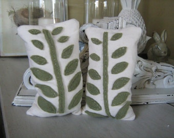 Fern Leaf Bean Bag Bookends
