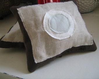 Chocolate Linen Textile Lavender Sachet