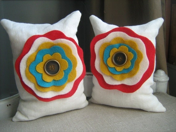 Circus Flower Beanbag Bookends