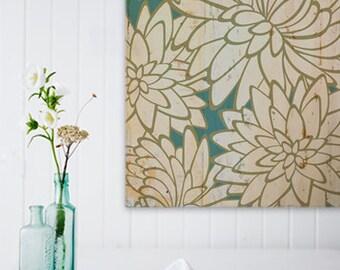 Flowers - Print on Wood