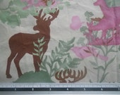 "1.3m Hoffman ""Eco Friendly"" Deer in the Forest Bamboo Cotton Fabric"