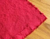 Hemp Fabric Organic Cotton CHERRY Light weight HALF YARD