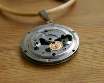Abstract Steampunk Compartment Pendant