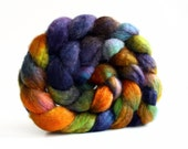 BFL Superwash Roving-Asteroid 4 oz-Handpainted Top/Roving for Spinning or Crafting