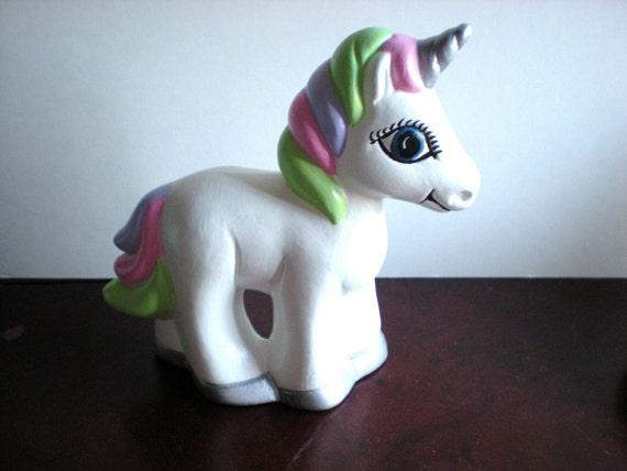 Hand Painted Ceramic Unicorn