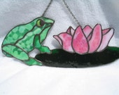 Stained Glass Frog On Lily Pad