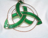 Stained Glass Celtic Knot W/Circle