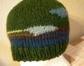 Wool Hat  Warm Wool Hat  Hand Knit  Original Design