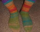 Hand Knit Wool Socks Hippie Socks 100% wool MENS Size 8-11