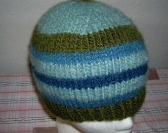 Wool Hat  Warm Wool Hat  Hand Knit