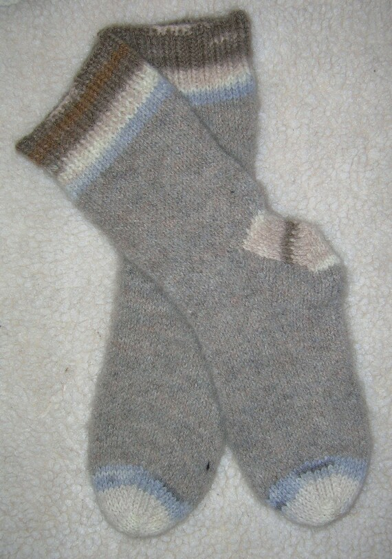Socks, Wool, Hand Knit Thick & Soft  Mens 10-12