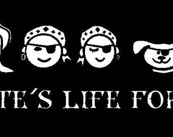 Pirate Family Decal Sticker Custom Made You Personalize