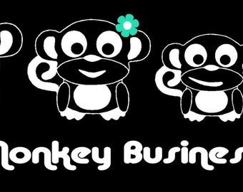 Monkey Family Car Decal Sticker Custom Made