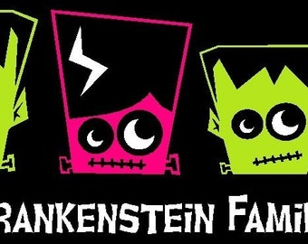 Frankenstein Family Car Decal Sticker Custom Made