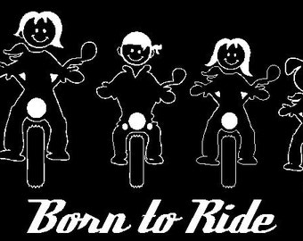 Motorcycle Family Car Decal Sticker Custom Made Personalized