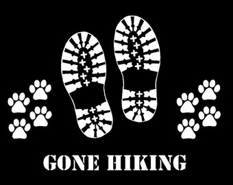 Hiking Boot Car Decal Sticker Custom Made Can Personalize