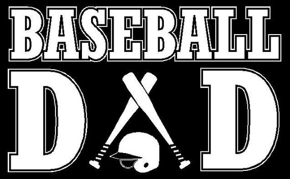 Baseball Dad Car Decal Sticker Custom Made - Custom car decals baseball
