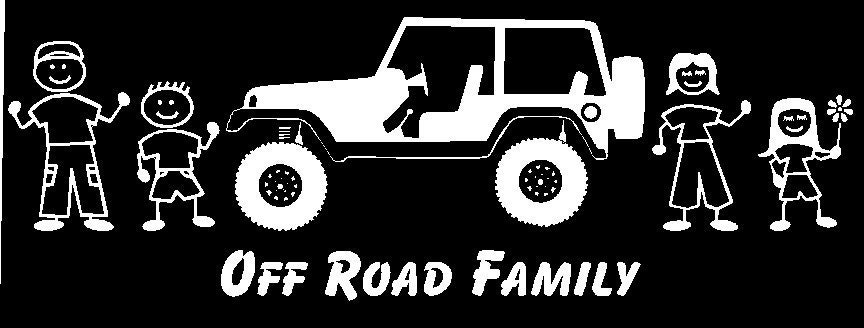 Jeep Off Road Family Car Decal Custom Made - Custom made car decals