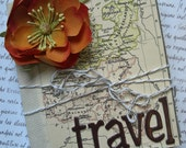 Travel Mini Album. Hand-Made, Vintage-Inspired Scrapbook Photo Album