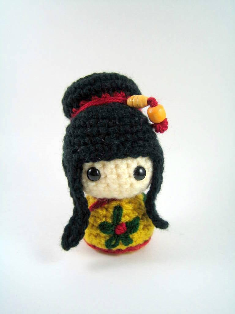Crochet Pattern For Yoda Doll : Mei Mei Kokeshi Doll Amigurumi Crochet Pattern PDF file