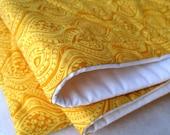 BABY QUILT organic bedding / handmade modern eco friendly golden honey yellow
