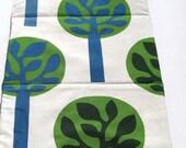 eco toddler nap mat for modern kids in green trees