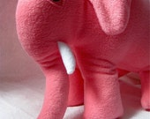 elephant stuffed animal toy in sweet pink / Petaluma