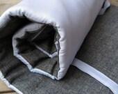 ORGANIC Napmat - Preschool Kids Nap Mat in Sky Blue Cotton Sateen - Modern Toddler Boys Bedding Nap Pad