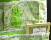 kids car seat organizer / handmade in green trees for all seasons (READY TO SHIP)