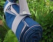 picnic beach blanket / handmade retro nougat gingham