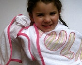 personalized bath towel set / your name / handmade towels with custom trim